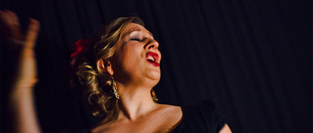 Classical singer performing