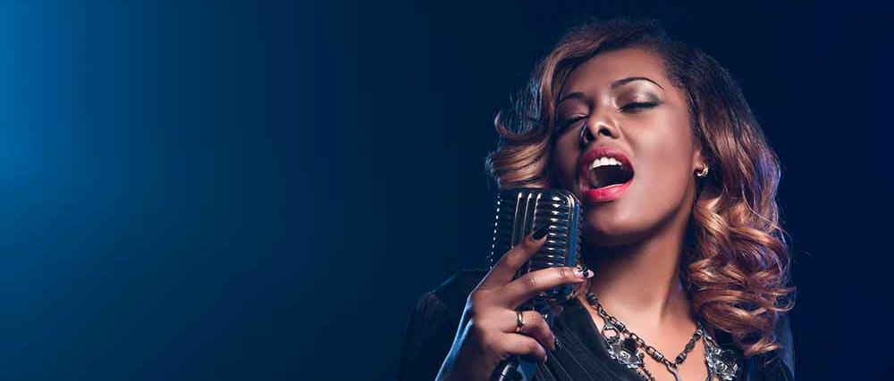 Gorgeous jazz singer