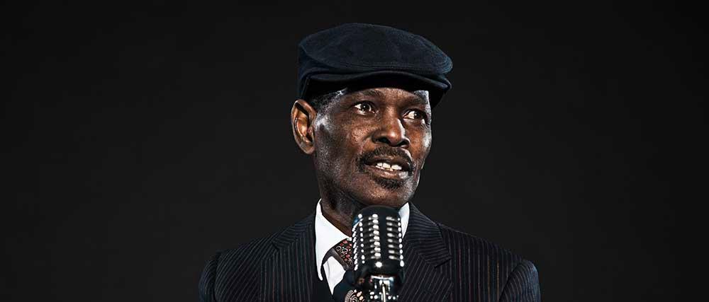 Man singing blues