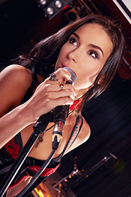 Beautiful lady singing