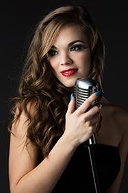 Lovely lady singing