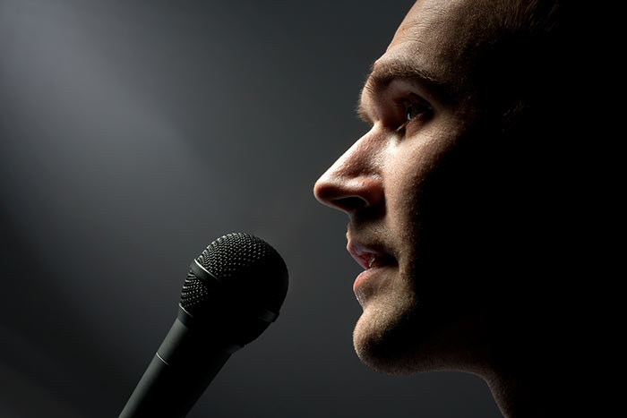 Man singing