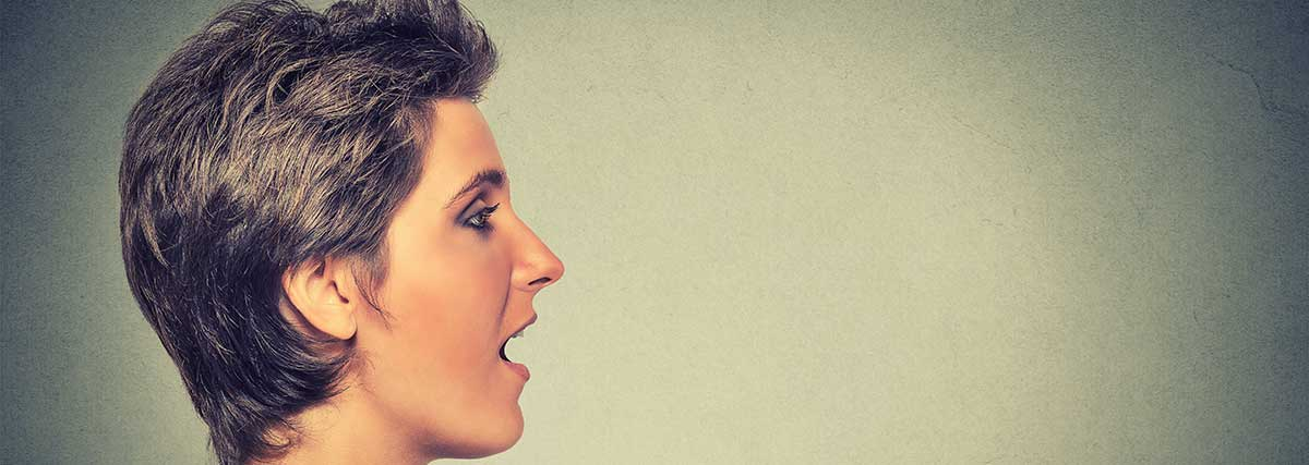 woman vocalizing