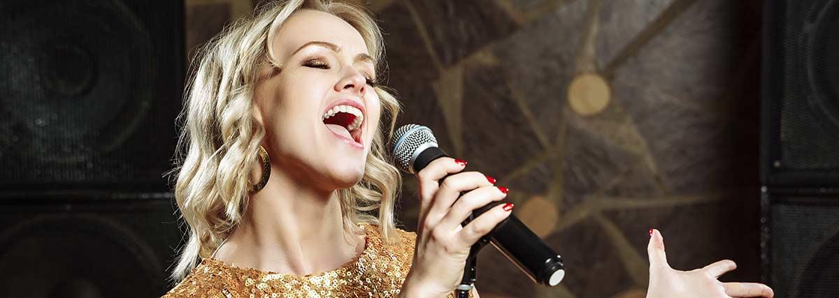passionate woman singing